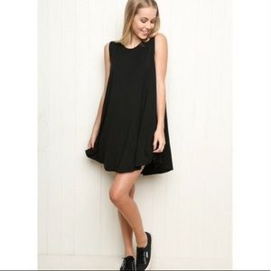 Brandy Melville Alena Swing Dress Black